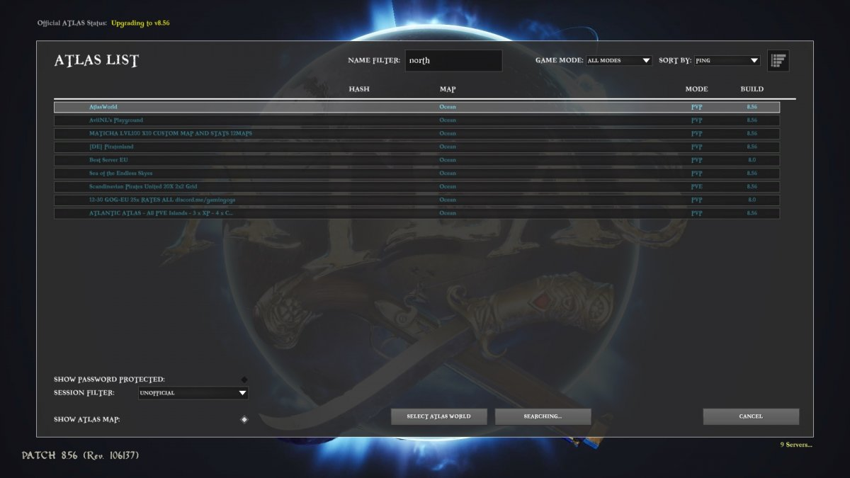 Ingame Server Browser Only Listing My Server Sometimes Dedicated Server And Developer Tools Discussion Official Atlas Community